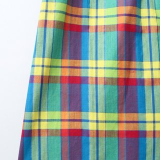 [RE0406SK131] US Air SantaCruz colorful vintage plaid skirt