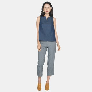 Front Slit Pants (Light Gray)
