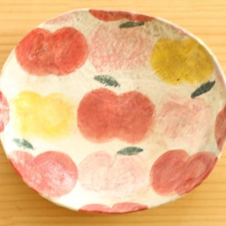Powdered apple oval dish with three colors.