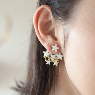 Stardust catch earrings / earrings (white)