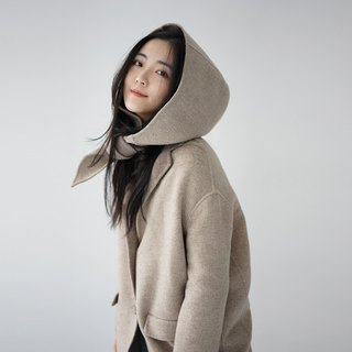 The second batch of ee18/ Double-faced woolen Coat has color difference, please read the details carefully.