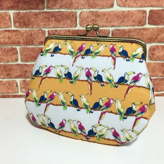 Parrot row station to meet the mouth gold bag / shoulder / side back / camera bag / cosmetic bag / sundries / bulk