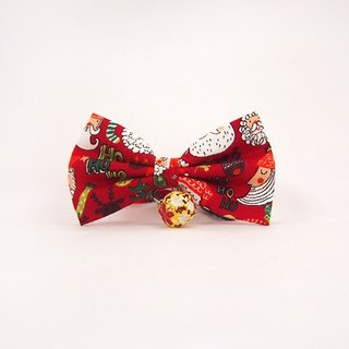 Christmas 趴 kick cat mini dog small dog bow decorative collar