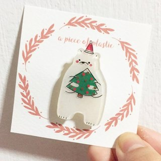 Christmas brooch bears