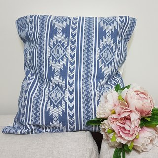 Nordic ethnic style blue pattern pillow / pillow