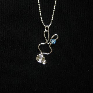 Winwing metal braided necklace - [small rabbit ear drill]. Swarovski Crystal