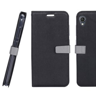 CASE SHOP ZenFone Live L1 Side Stand Standing Holster - Black (4716779660142)