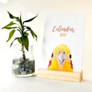 2019 Parrot Theme Deck Calendar, Holiday gift, 2019 Calendar with Stand