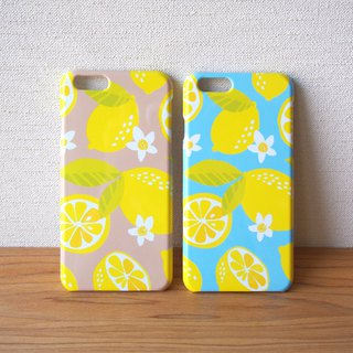 Plastic android phone case - Citrus Limon -