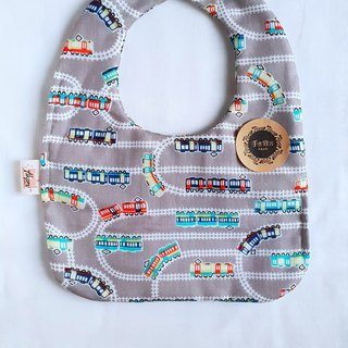 Mini Rail Car - Gray - Eight Layers of 100% cotton double-sided round bibs
