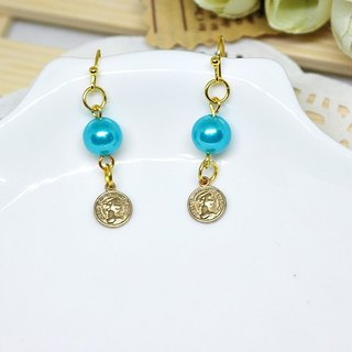 * * _ Brilliant gold alloy hook earrings
