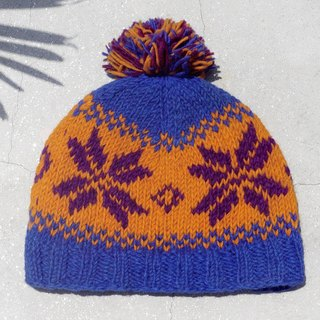 Christmas market exchange gifts Christmas gifts limited edition hand-woven wool hat / knitted wool cap / inner bristles hand-woven wool cap / wool cap (made in nepal) - the sun South America Nordic Snowflake Ethnic Totem