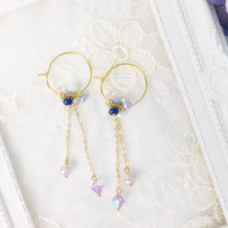 [Atelier A.] Gorgeous natural crystal earrings with Christmas selection