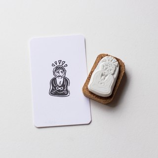 Hand engraved rubber stamp, Buddha seal, stationery, hand account