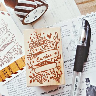 Red warm hand made rubber stamp - four seasons of the book collection 4X6cm