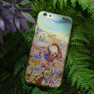 Unique 3D abstract art paint Phone Case I iPhone 6PLUS. Flora Countryside
