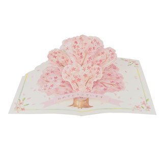 ◤ followed the advent of spring cherry blossoms in full bloom | Pop-up Card | JP