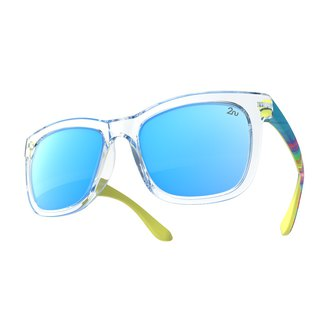 2NU - FANCY2 Sunglasses - Crystal - Blue Revo Lens