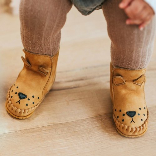 Netherlands Donsje leather bristles animal modeling boots baby shoes children shoes orange lion 517-KL007