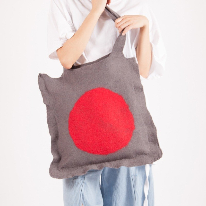 Ke Artificial original design pure wool handmade large bag ladies shoulder portable large capacity Japanese art retro