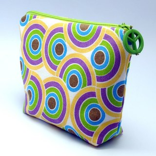 Large flat bottom zipper pouch /cosmetic bag (padded) (ZL-32)