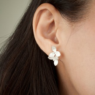 I-Shan13 three heart orchid earrings