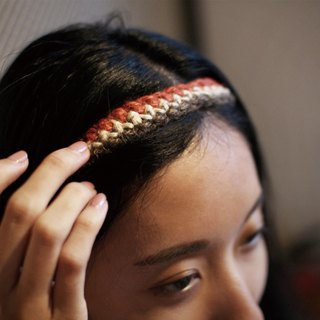 City Red Handmade Woven Hair Band