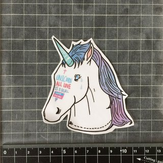 Unicorn head sticker