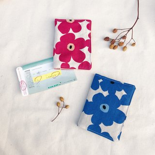 Cloth passport set / poppies