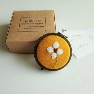 Mountain white flower wool mirror [Valentine's Day / Birthday Gift]