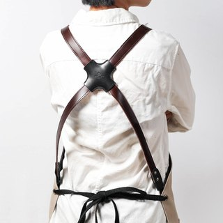 work leather apron(Cross Back) /DG01N