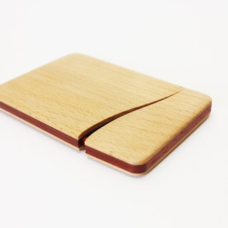 Slim name-card holder Beech and Padouk
