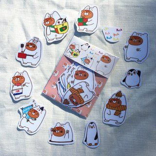 Sticker / push! Push! Bear ʕ • ᴥ • ʔ
