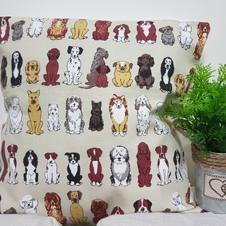 Nordic unique retro cute puppy pattern pillow / pillow