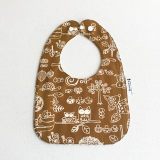 Two-sided bib - animal graffiti