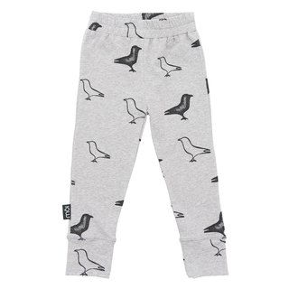 Nordic organic cotton children's leggings gray duck crossing limited edition