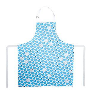 Kitchen Good Time Apron Poussin Bleu