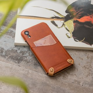 iPhone XR Minimalist Series Leather Case - Brown