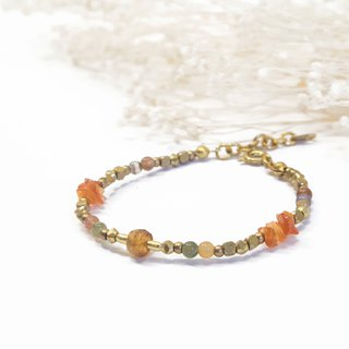 Find it / Sunflower - Tourmaline Sunstone Brass Bracelet