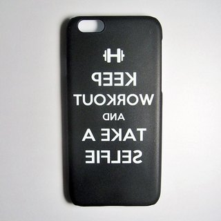 SO GEEK phone shell design brand THE SELFIE GEEK Fitness Self-paragraph (black)