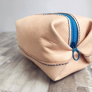 Soft leather color zipper large package - the original color leather