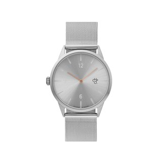 Swedish brand - Nuno Mini silver dial - Silver Milan with adjustable watch