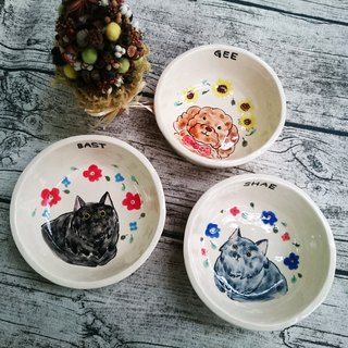Hand painted pet bowl as ordered