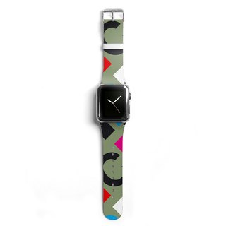 Typography Apple watch band, Decouart Apple watch strap S021 (including adapter)