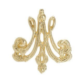 M and A monogram pin