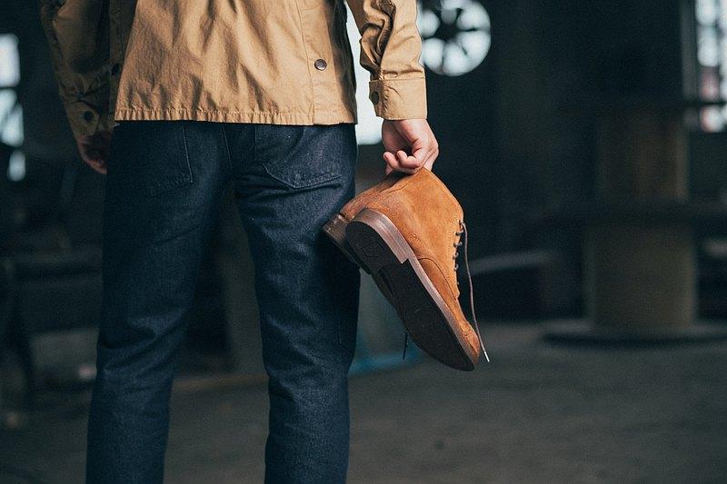 紳感橫飾工作靴 駱駝棕 工作鞋│工裝│男