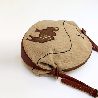 Desert embroidery shoulder bag of the moon