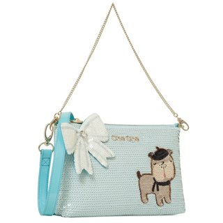 French Bulldog Beaded Handbag