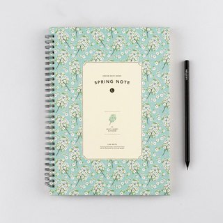 ARDIUM Spiral Notebook (large) - Sakura Mint