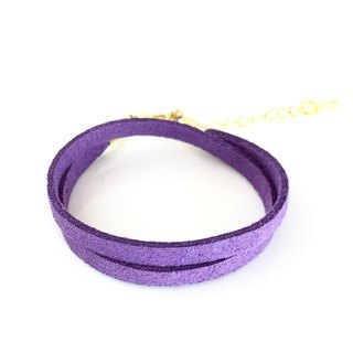Purple - suede roping bracelet (also can be used as a necklace)